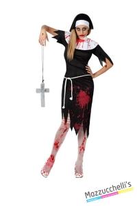 costume suora horror zombie carnevale halloween o altre feste a tema - Mazzucchellis