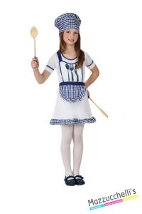 costume bambina mestieri lavori cuoca carnevale halloween o altre feste a tema - Mazzucchellis