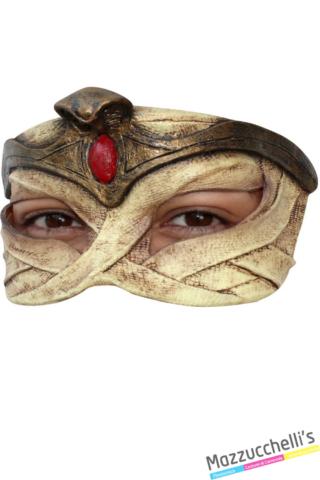 MEZZA MASCHERA IN LATTICE EGYPTIAN egiziani halloween popoli del mondo - Mazzucchellis