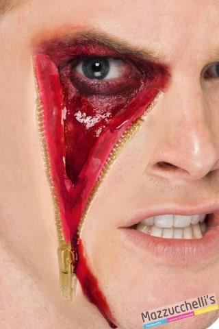 cicatrice zip cerniera horror halloween carnevale feste a tema - Mazzucchellis