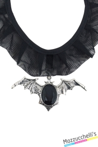 COLLANA PIPISTRELLO gotico vampiro o strega halloween carnevale o altre feste a tema - Mazzucchellis
