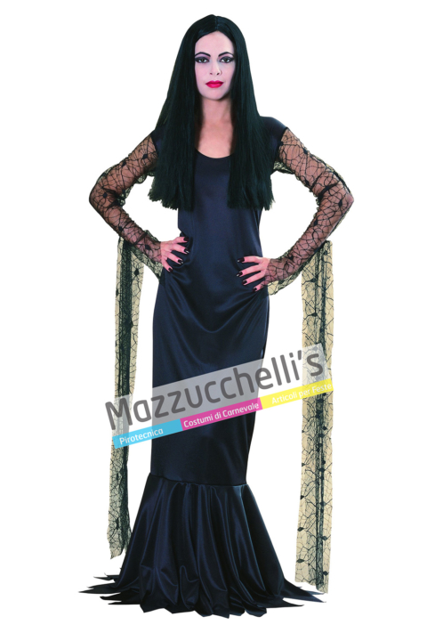 Costume Morticia Famiglia Addams - Mazzucchellis