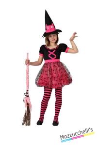 costume bambina strega rosa carnevale halloween o altre feste a tema - Mazzucchellis
