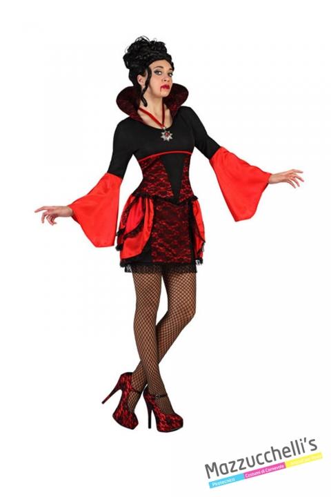 costume donna sexy vampira carnevale halloween o altre feste a tema - Mazzucchellis