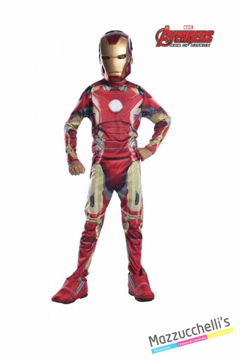COSTUME bambino classico iron man supereroe forte ufficiale avengers marvel CARNEVALE HALLOWEEN O ALTRE FESTE A TEMA - Mazzucchellis