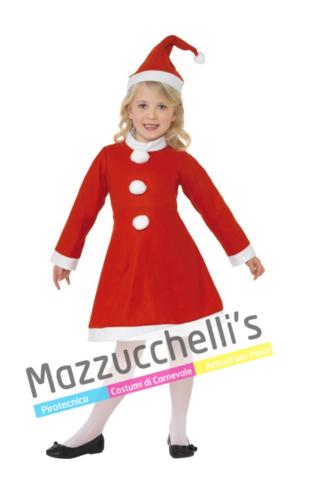 Costume Bambina Babbo Natale - Mazzucchellis
