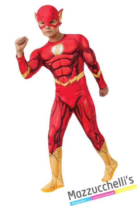 costume-bambino-supereroe-flash-cartone---Mazzucchellis