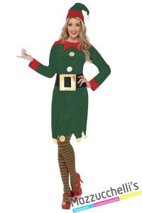 costume elfo donna aiutante di babbo natale - Mazzucchellis
