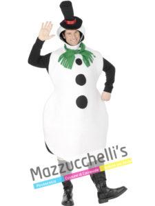 Costume Adulto Uomo Pupazzo Di Neve