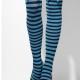 calze parigine azzurre e nere alice nel paese delle meraviglie film - Mazzucchellis