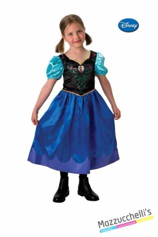 COSTUME bambina principessa film frozen anna CARNEVALE HALLOWEEN O ALTRE FESTE A TEMA - Mazzucchellis