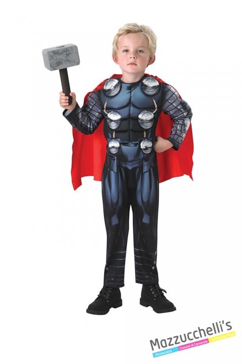 Costume bambino thor deluxe avengers CARNEVALE HALLOWEEN O ALTRE FESTE A TEMA - Mazzucchellis