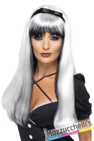 parrucca-donna-bainca-e-nera---Mazzucchellis