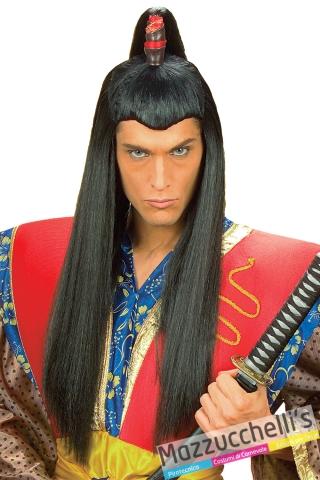 parrucca giapponese samurai popoli del mondo carnevale halloween e altre feste a tema - Mazzucchellis