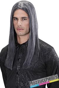 parrucca grigia lunga professionale Dream Hair Quality vampiro carnevale halloween o altre feste a tema - Mazzucchellis
