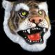 MASCHERA TIGRE IN LATTICE animale - Mazzucchellis