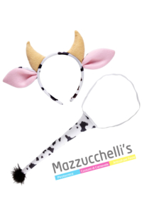 Kit Mucca Cerchietto e Coda Animale bambina e adulto - Mazzucchellis