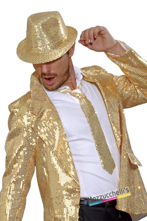 Cravatta Oro con Paillettes - Mazzucchellis