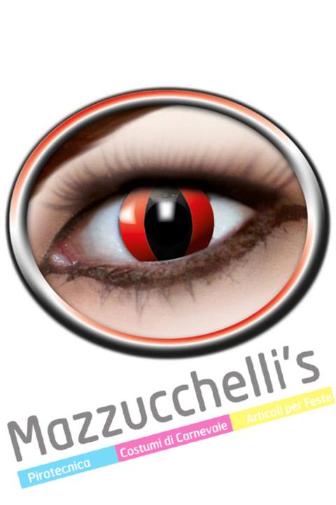 LENTI a contatto rosse gatto RED CAT 12 MESI carnevale halloween e altre feste a tema - Mazzucchellis