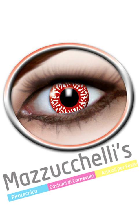 LENTI a contatto bianchi insanguinati 12 MESI Carnevale Halloween e altre feste a tema - Mazzucchellis