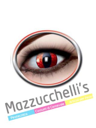 LENTI a contatto rosse drago RED DRAGON 12 MESI carnevale halloween e altre feste a tema - Mazzucchellis