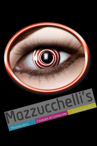LENTI a contatto bianche con spirale rossa 12 MESI carnevale halloween e altre feste a tema - Mazzucchellis