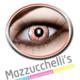 lenti a contatto rosse con decorazioni carnevale, halloween e altre feste a tema- Mazzucchellis