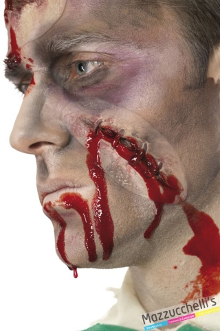 cicatrici taglio con sangue horror halloween carnevale e altre feste a tema - Mazzucchellis
