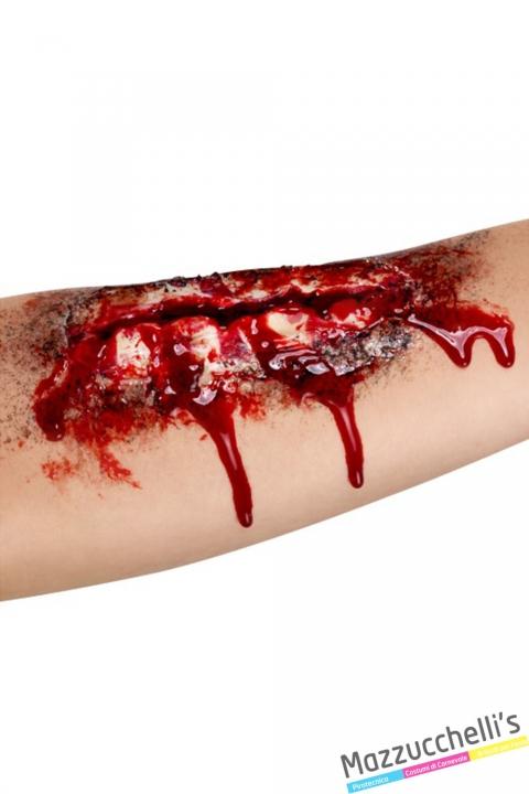 cicatrice taglio aperto zombie horror halloween carnevale feste a tema - Mazzucchellis