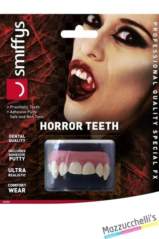 denti vampiro horror halloween carnevale feste a tema - Mazzucchellis