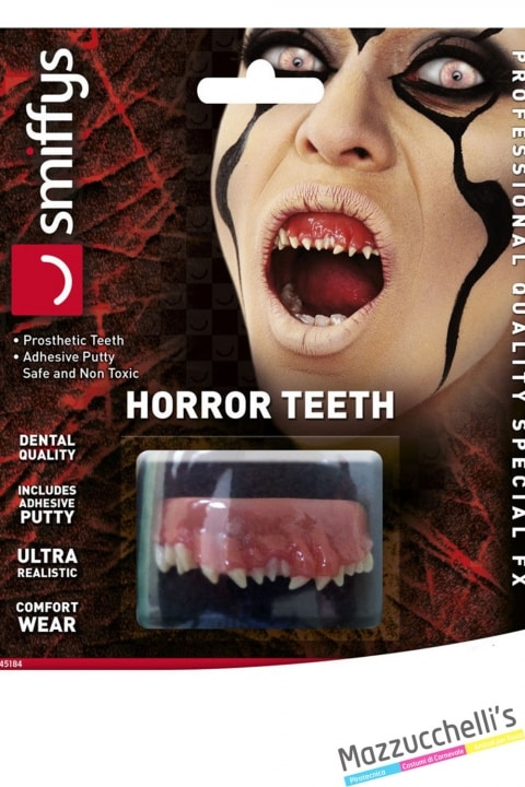 denti animale horror halloween carnevale feste a tema - Mazzucchellis