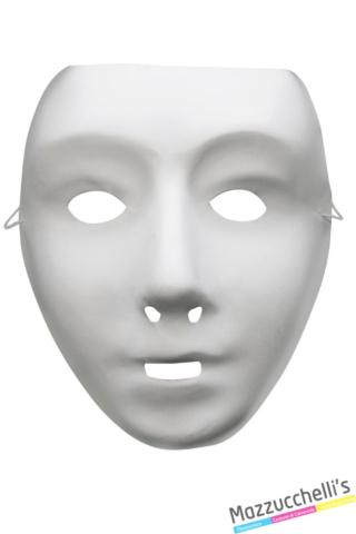 maschera bianca in plastica - Mazzucchellis