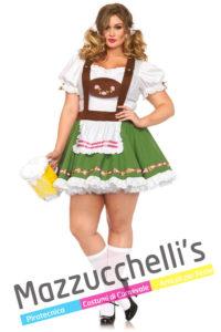 Costume Adulta Donna Curvy Bavarese - Oktoberfest