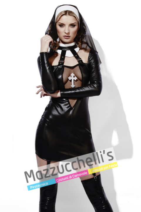 Costume Suora Wet Look - Mazzucchellis