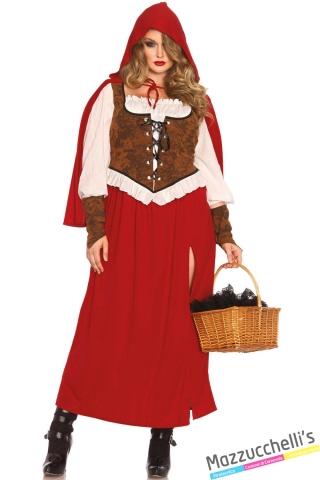 costume curvy cappuccetto rosso carnevale halloween o altre feste a tema - Mazzucchellis
