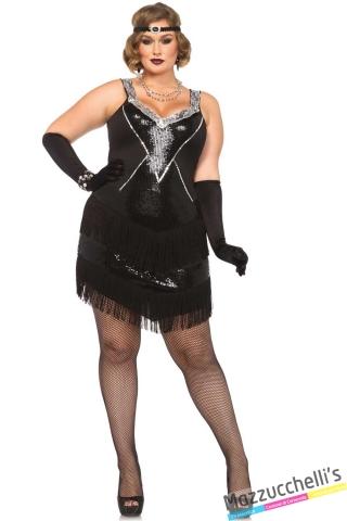 costume curvy charleston anni '20 carnevale halloween o altre feste a tema - Mazzucchellis