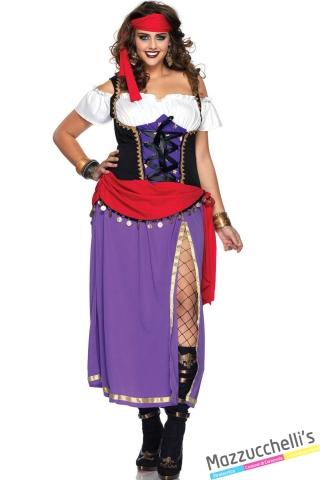 costume curvy gipsy zingara carnevale halloween o altre feste a tema - Mazzucchellis