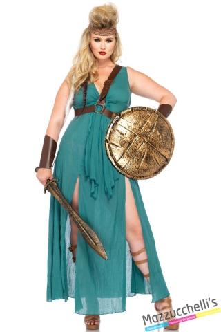 costume curvy guerriera carnevale halloween o altre feste a tema - Mazzucchellis