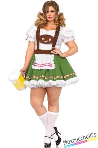 costume curvy octoberfest festa della birra carnevale halloween o altre feste a tema - Mazzucchellis