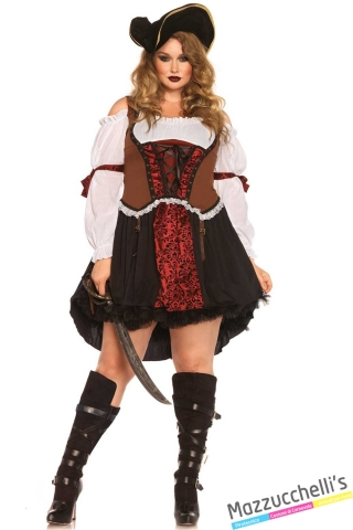 costume curvy piratessa carnevale halloween o altre feste a tema - Mazzucchellis