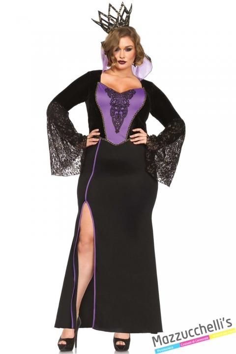 costume curvy regina oscura carnevale halloween o altre feste a tema - Mazzucchellis