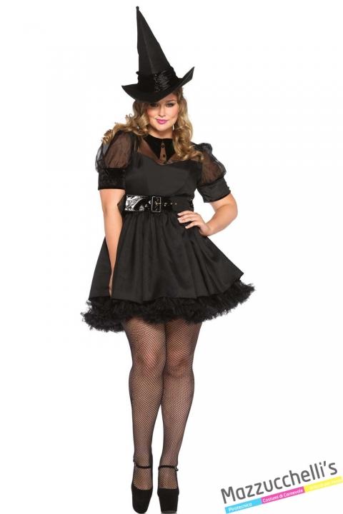 costume curvy sexy strega carnevale halloween o altre feste a tema - Mazzucchellis