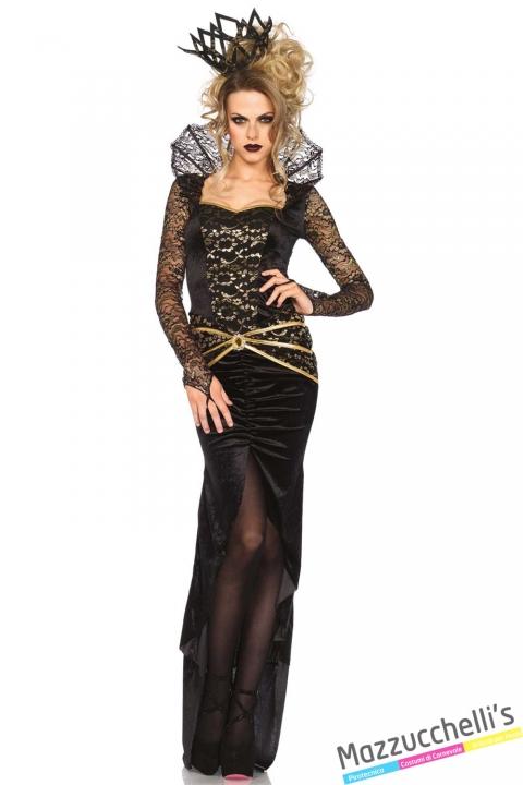 costume regina nera carnevale halloween o altre feste a tema - Mazzucchellis