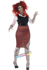 costume studentessa zombie halloween , carnevale o altre feste a tema - Mazzucchellis