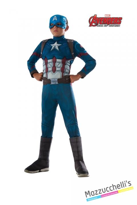 COSTUME bambino capitan america supereroe forte ufficiale avengers marvel CARNEVALE HALLOWEEN O ALTRE FESTE A TEMA - Mazzucchellis