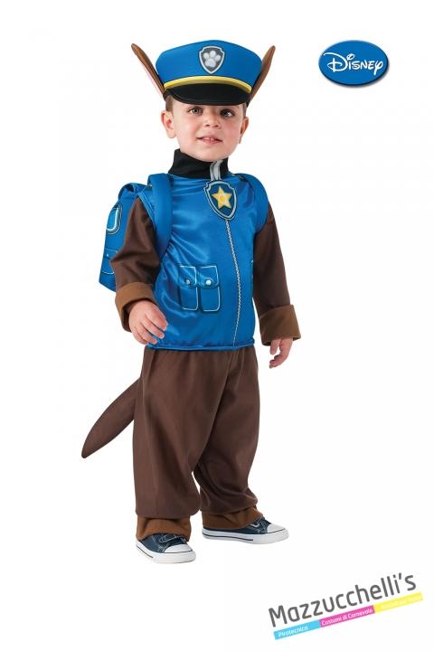 Costume paw patrol chase cane originale disney CARNEVALE HALLOWEEN O ALTRE FESTE A TEMA - Mazzucchellis..