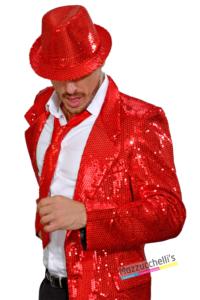 Cravatta Rossa con Paillettes - Mazzucchelllis