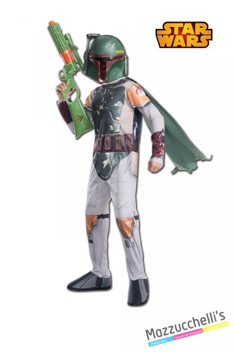 Costume Boba Fett - Ufficiale Star Wars disney CARNEVALE HALLOWEEN O ALTRE FESTE A TEMA - Mazzucchellis