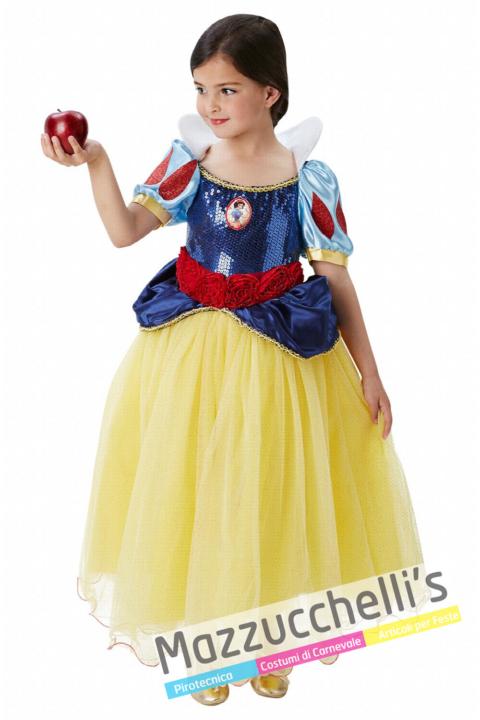 Costume Principessa Biancaneve Deluxe – Ufficiale Disney™ - Mazzucchellis