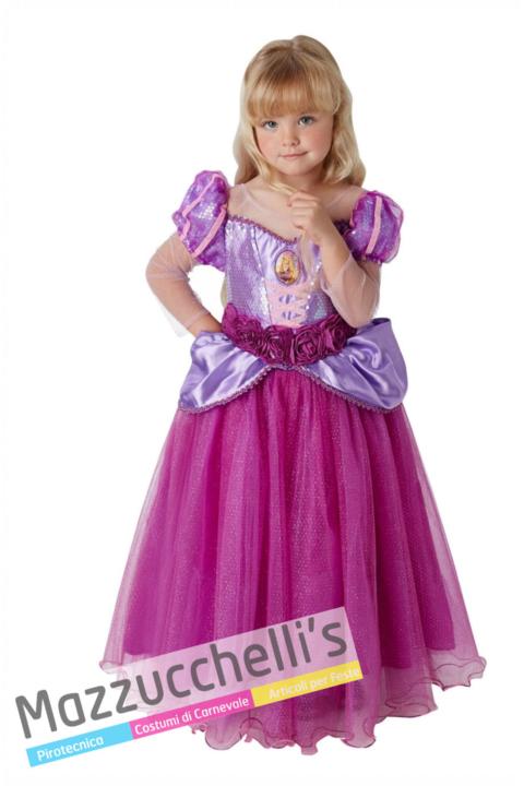 Costume Principessa Rapunzel Deluxe – Ufficiale Disney™- Mazzucchellis